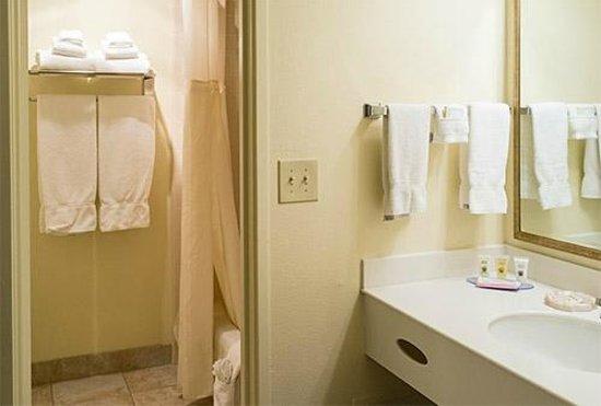 Best Western Plus Royal Oak Hotel: Bathroom is separate from wash basin