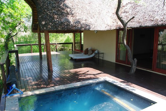 Elephant Plains Game Lodge: Right half of the deck