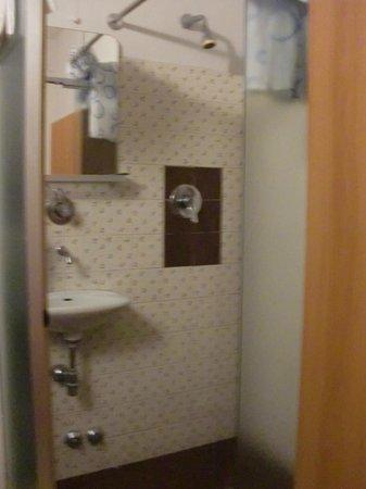 Hotel Medici: bagno camera singola: lavandino + doccia