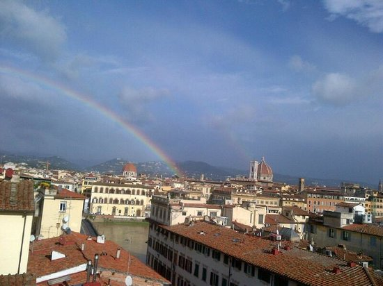 Palazzo Magnani Feroni: WHAT A VIEW AND THE RAINBOW WAS A BONUS!