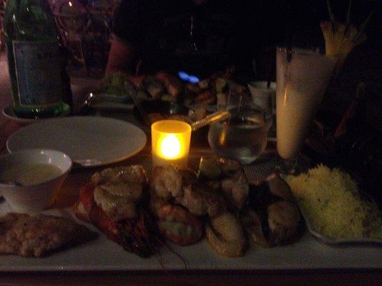 La Plage Restaurant : Не вкусная порция морепродуктов