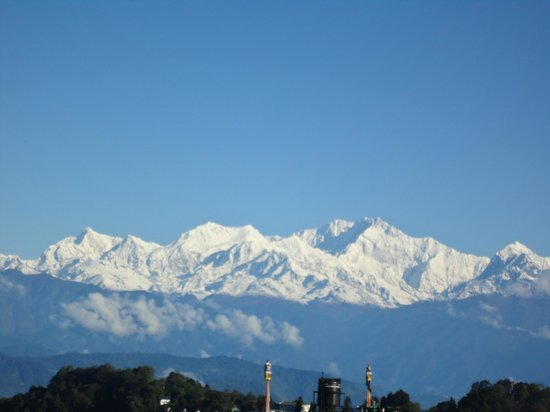 KANCHENJUNGA as it viewed from Hotel Meghma