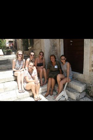 Providenca Charter and Travel: With our tour guide, Doris, on the Island of Hvar