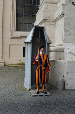 Private Tour of Rome - Rome Day Tours - Vatican Tours: guard at St. Peters