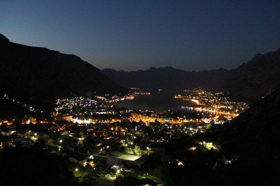 Hotel Galia: Kotor Bay View at night