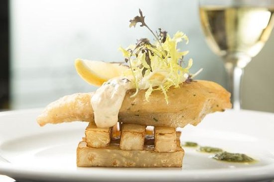 Freya's Restaurant at Aspers Casino: Tempting Tempura Seabass