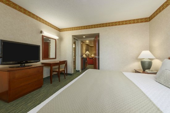 Embassy Suites by Hilton Tampa-USF/Near Busch Gardens: King Suite Bedroom