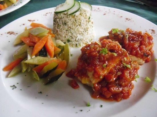 Hotel Europeo: Platillo en el Restaurante