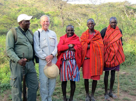 Cottar's 1920s Camp & Bush Villa: Doug, Larry & Maasai on Walking Safari