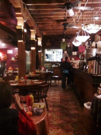 A warm, comfortable atmosphere can be found at the Mud Street Cafe.