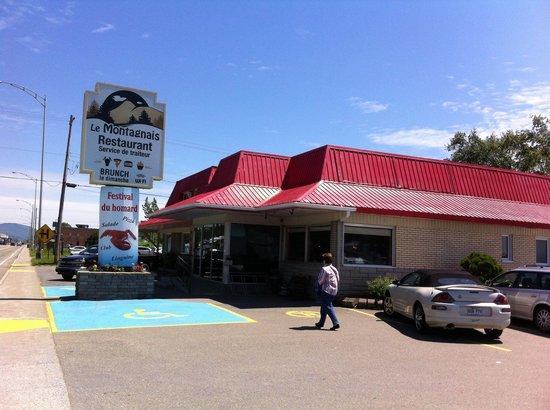 Restaurant le Montagnais: Voici l'extérieur de notre restaurant
