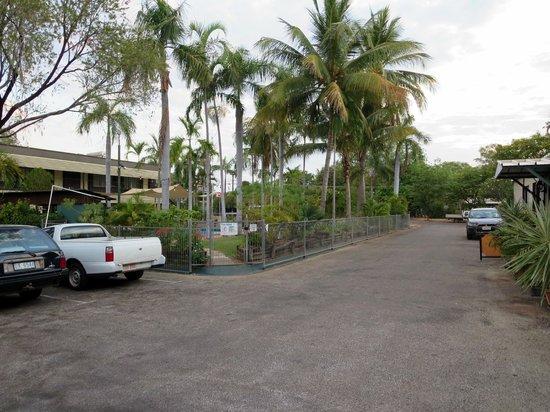 Pine Tree Motel: Pool, Parkplatz, Innenhof