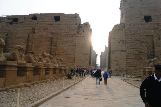 Avenue of Sphinxes: Karnak Tempel 2012