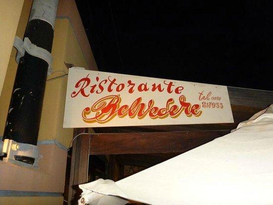 Ristorante Belvedere: the place