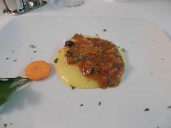 Hotel Ristorante Miralago: Polentina con funghi e moscardini