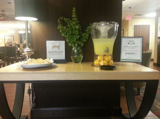 Hampton Inn Bellevue / Nashville-I-40-West: Gooey halfbaked cookies an lemonade hit the spot when we arrived.