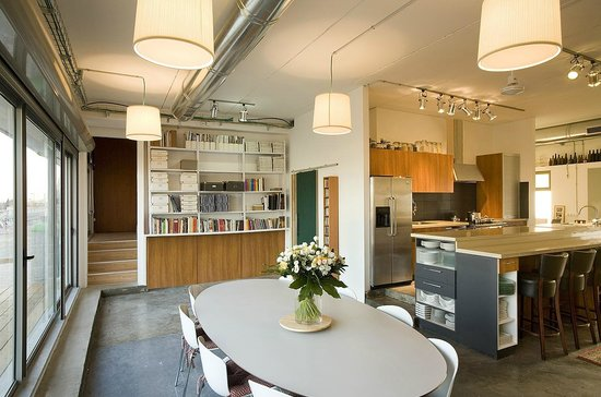 studio chef erez stern: kitchen, library and dining room