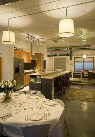studio chef erez stern: entrence, kitchen and dining