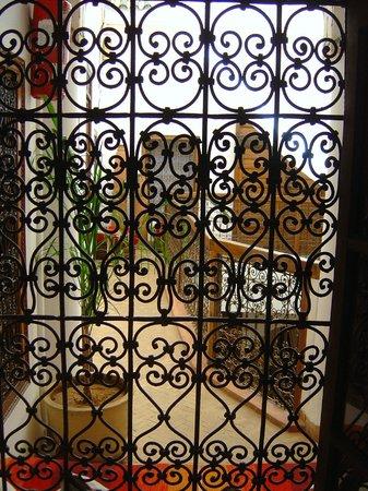 Riad El Arsat: vue de notre cage dorée..