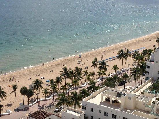 Marriott's BeachPlace Towers : playa desde mi habitación piso 15º