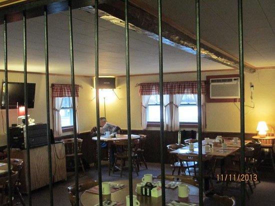 Calamity Jane's Restaurant: Interior Picture, w/Bars added!