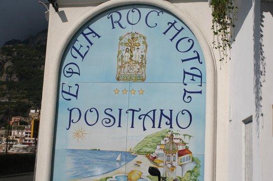 Hotel Eden Roc : Tiled Hotel Sign
