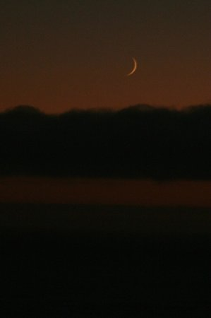 Cape Blanco Lighthouse : Crescent Moon at the Lighthouse