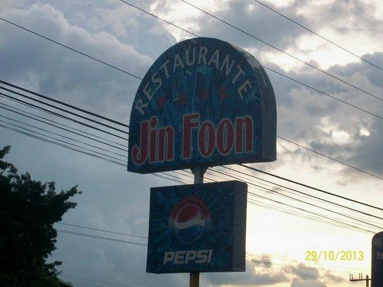 Jin Foon Restaurante: Jin foon sign on Interamericana highway in Penonome