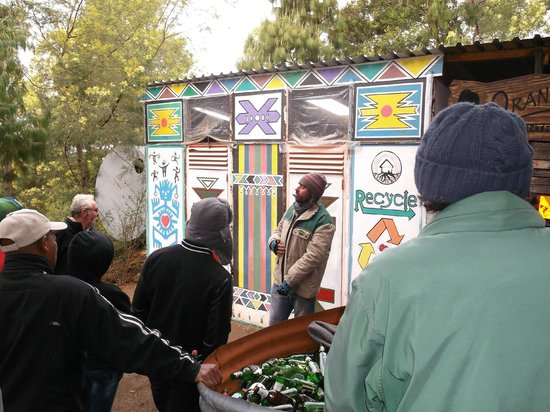 Terra-Khaya: Owner Shane showing off his amazing recycling centre