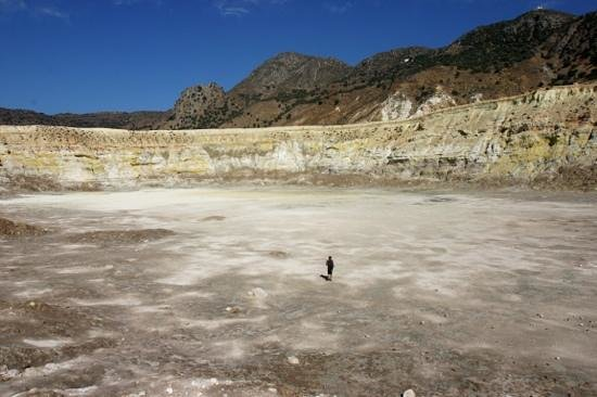 Νίσυρος, Ελλάδα: Greece. Nisiros. Stefanos crater.