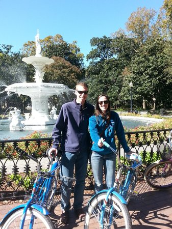 Savannah Bike Tours: By the fountain