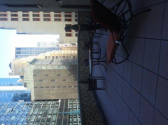 Manhattan NYC–an Affinia hotel: wonderful balcony