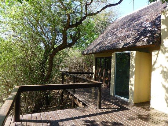 Elephant Plains Game Lodge: Terrasse de notre chambre