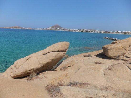 Hotel Katerina: the famous shark rock 15mins walk from hotel
