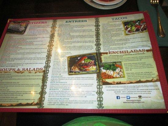 Hussong's Cantina: The Menu