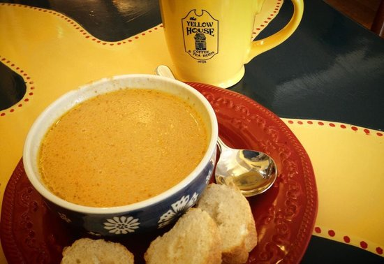 Yellow House Coffee & Tea: Pumpkin bisque, one of our seasonal soups.
