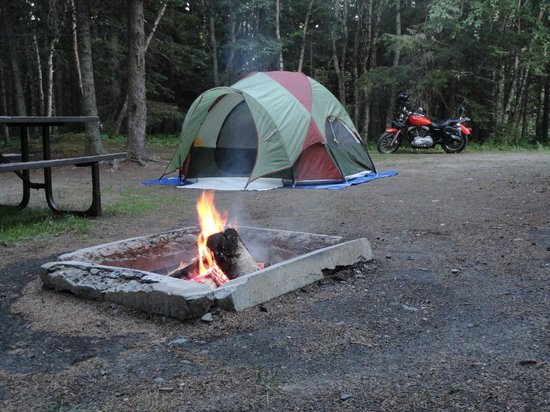 Neys Provincial Park : Campsite at night.