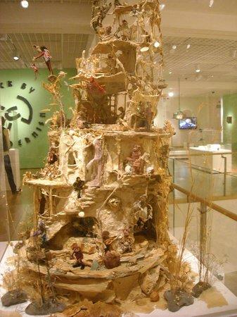 Mingei International Museum: Castle made of twigs