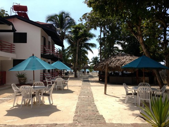 view from the restaurant walkway picture of hotel zapata boca chica tripadvisor. Black Bedroom Furniture Sets. Home Design Ideas