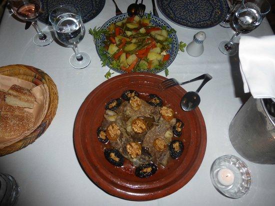 Riad Marana: repas du soir