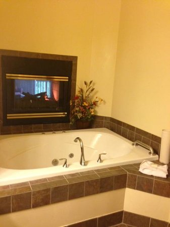 Worldmark Galena: Bathroom with double sided fireplace