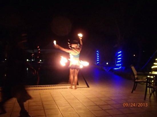 Divi Carina Bay All Inclusive Beach Resort : Fire dancers entertain