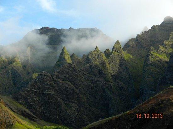 Wainiha, Havaí: Na Pali Coast e le nuvole