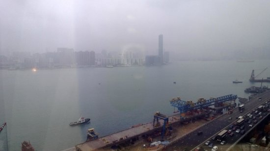 Harbour Grand Hong Kong: the view, construction is below and all around
