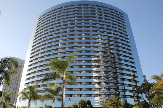 Marriott Marquis San Diego Marina: The other tower with balconies