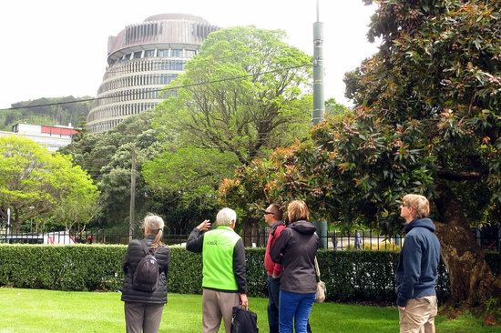 Walk Wellington : View of Beehive at Parliament