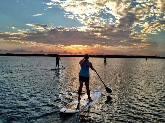 Golden Beach Hire: Stand up paddleboarding and kayaking are the best way to visit top end of Bribie island national