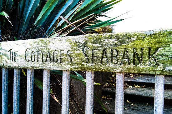 The Cottages: Gate from beach into property