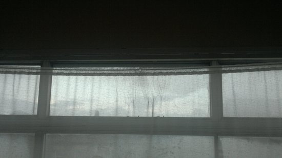 Newgate Hotel: Net curtain hanging down