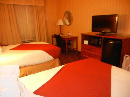 Holiday Inn Express Hotel & Suites: Bom quarto, pega bem wifi grátis.